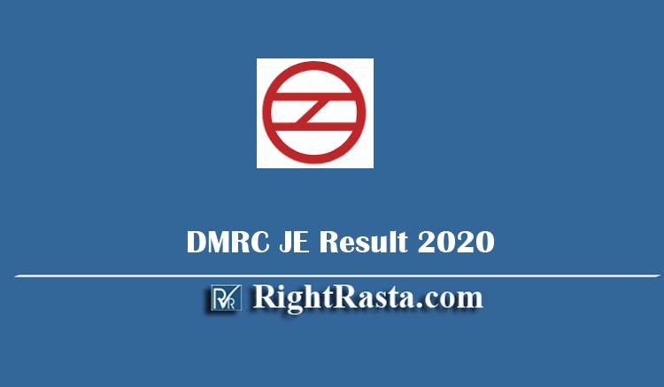 DMRC JE Result 2020