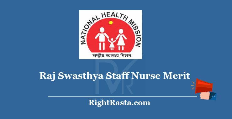 NHM Rajasthan GNM Merit List 2018