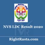 NVS LDC Result 2020 - Download Navodaya Lower Division Clerk Exam Results 2019