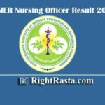 PGIMER Nursing Officer Result 2020 - Download PGI Chandigarh Staff Nurse Results