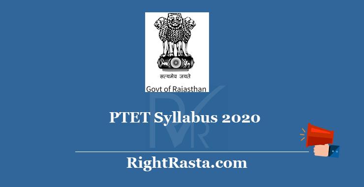 PTET Syllabus 2020