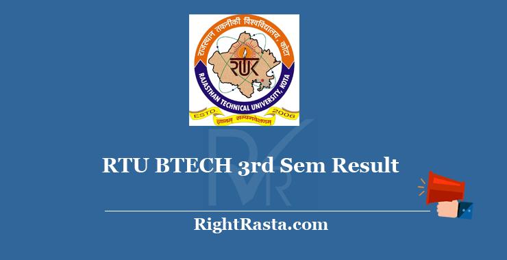 RTU BTECH 3rd Sem Result 2020