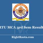 RTU MCA 3rd Sem Result 2020 - Rajasthan Technical University Kota M.CA 3 Semester Exam Results @ Esuvidha.info
