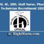 UPRVUNL AE, ARO, Staff Nurse, Pharmacist & Technician Recruitment 2020 - Extended
