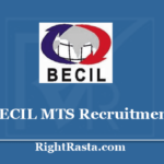BECIL MTS Recruitment 2020 - Apply Offline Form for Multi Tasking Staff Vacancy