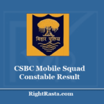 CSBC Mobile Squad Constable Result 2020 - Download Bihar Police Exam Results