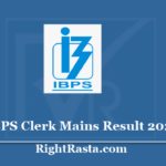 IBPS Clerk Mains Result 2020 - Download CRP IX Final Exam Cut Off Marks, Merit List