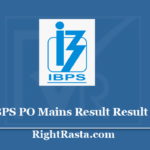 IBPS PO Mains Result 2020 - Download IBPS CRP PO MT IX Interview & Final Exam Results