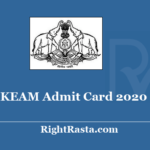 KEAM Admit Card 2020 - Check CEE Kerala New Exam Date