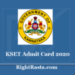 KSET Admit Card 2020 (Out) - Download Karnataka Karnataka State Eligibility Test Hall Ticket