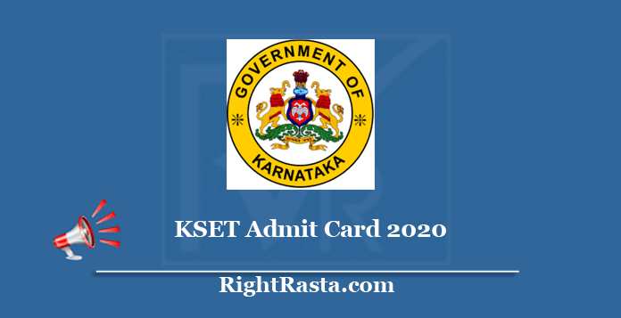 KSET Admit Card 2020