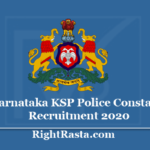 Karnataka KSP Police Constable Recruitment 2020 - Apply Online for 2672 Posts