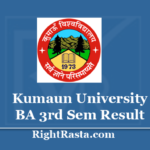 Kumaun University BA 3rd Sem Result 2020 - Download KU Nainital Semester 5 Exam Results 2019 @ kuadmission.com