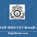 MAH MBA CET Result 2020 - Download Maharashtra State Common Entrance Test Results