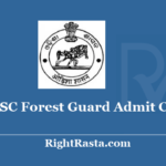 OSSSC Forest Guard Admit Card 2020 - Check Odisha Sub-ordinate Staff Selection Commission Exam Updates