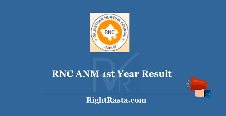 RNC ANM 1st Year Result 2020
