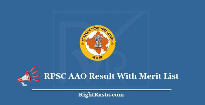 RPSC AAO Result With Merit List
