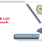 RSMSSB LDC Final Result 2018 (Out) | Junior Assistant Recommendation List
