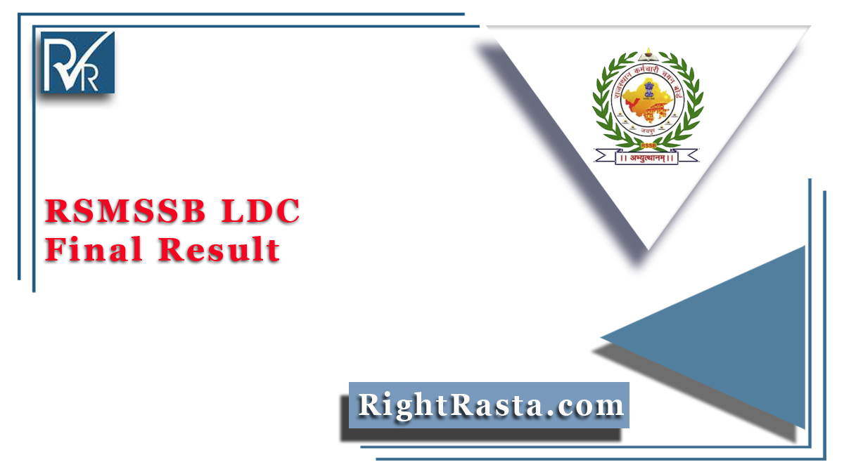 RSMSSB LDC Final Result