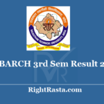 RTU BARCH 3rd Sem Result 2020 - Download Semester 3 Exam Results @ esuvidha.info