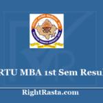 RTU MBA 1st Sem Result 2020 - Rajasthan Technical University MBA Results @ esuvidha.info