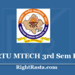 RTU MTECH 3rd Sem Result 2020 - Download Rajasthan Technical University Kota M.Tech 3 Semester Exam Results @ Esuvidha.info