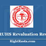 RUHS Revaluation Result 2020 - Download BSC Nursing & Post Basic Re-Evaluation Results