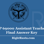 UP 69000 Assistant Teacher Final Answer Key 2020 - Download ATR Super TET Revised Answer Key 2019 PDF