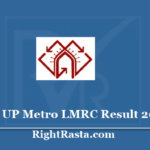 UP Metro LMRC Result 2020 - Download Lucknow Metro Assistant Manager, Junior Engineer, Public Relations Assistant Cut Off Marks