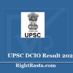 UPSC DCIO Result 2020 - Download Deputy Central Intelligence Officer Exam Merit List