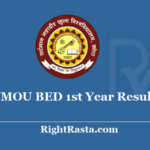 VMOU BED 1st Year Result 2020 - Vardhman Mahaveer Open University Kota B.ED First Year Exam Results
