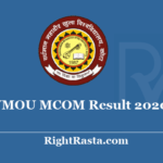 VMOU MCOM Result 2020 - Download Vardhman Mahaveer Open University Kota M.Com Previous & Final Exam Results