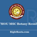 VMOU MSC Botany Result 2020 - Download Vardhman Mahaveer Open University Kota M.SC Botany Previous & Final Exam Results