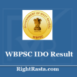 WBPSC IDO Result 2019 - Download Industrial Development Officer Results 2020