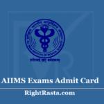 AIIMS Exams ORG Admit Card 2020 - NORCET Staff Nurse Hall Ticket @ aiimsexams.org