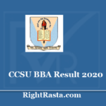 CCSU BBA Result 2020 - Chaudhary Charan Singh University CCS results @ ccsuniversity.ac.in