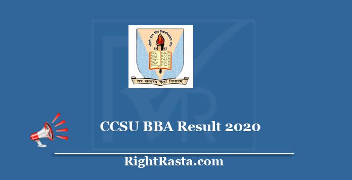 CCSU BBA Result 2020