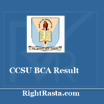 CCSU BCA Result 2020 - Chaudhary Charan Singh University CCS results @ ccsuniversity.ac.in
