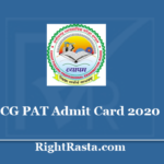 CG PAT Admit Card 2020 - Check Chhattisgarh CGPEB Exam Update