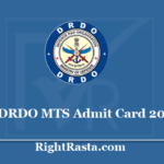 DRDO MTS Admit Card 2020 - Download CEPTAM Multi Tasking Staff Exam Date