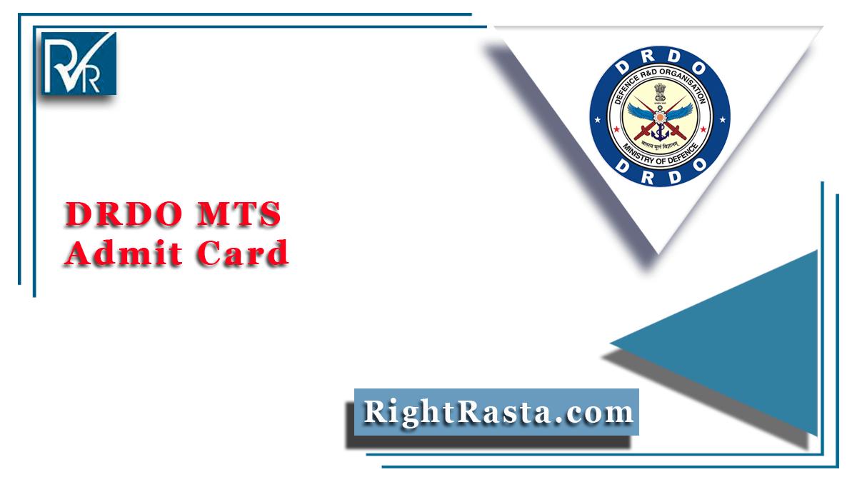 DRDO MTS Admit Card
