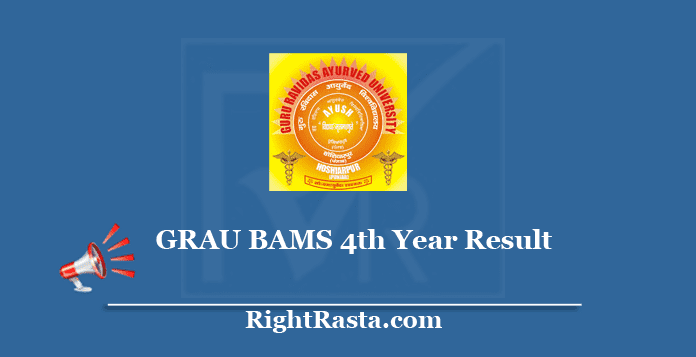 GRAU BAMS 4th Year Result