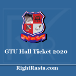 GTU Hall Ticket 2020 - Gujarat Technological University Summer Exam Admit Card