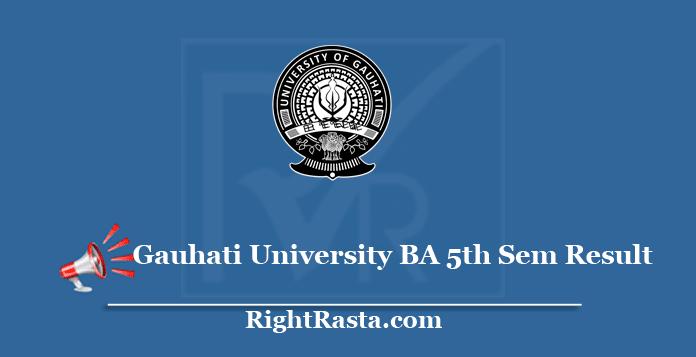 Gauhati University BA 5th Sem Result