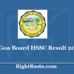 Goa Board HSSC Result 2020 - Download GBSHSE 12th Results