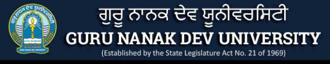 Guru Nanak Dev University Exam 2020