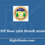 HPBOSE 12th Result 2020 - Download HP Board 12 Class Results @hpbose.org