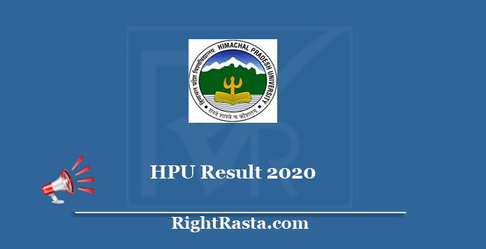 HPU Student Portal Result