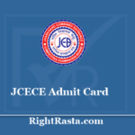 JCECE Admit Card 2020 - Check Exam Updates @ jceceb.jharkhand.gov.in