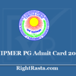 JIPMER PG Admit Card 2020 - Download MD/MS Entrance Exam Hall Ticket